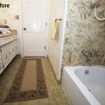 Before picture of a hall bathroom