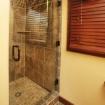Shower with floor to ceiling tile