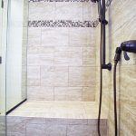 Over-sized shower with bench