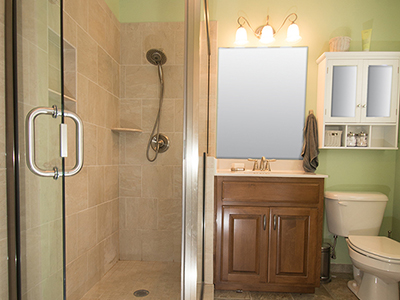 Bathroom remodel for large family in Louisville